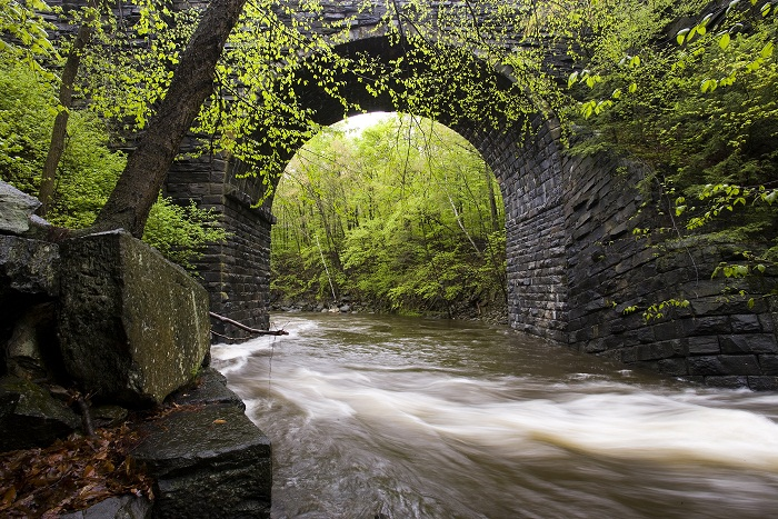 Keystone Arch on the West Branch of the Westfield River, Chester, Massachusetts.