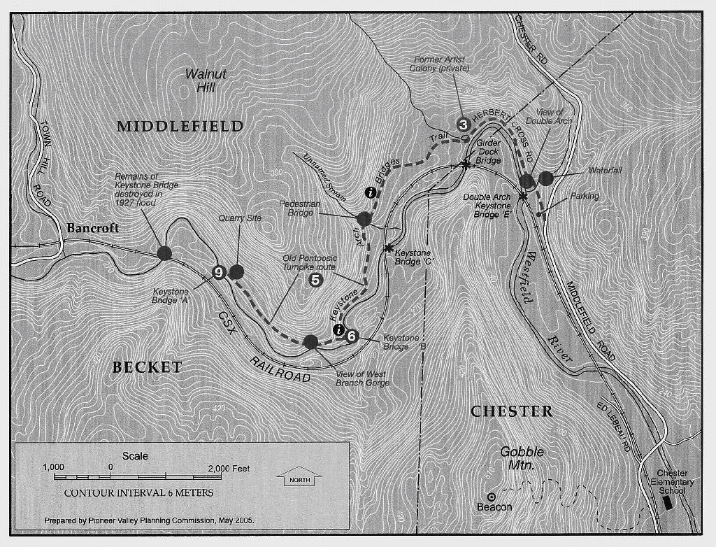 Keystone Arch Trail map